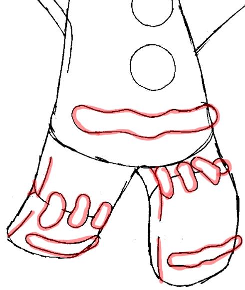 Как нарисовать Пряник из мульт-ма Шрек карандашом поэтапно