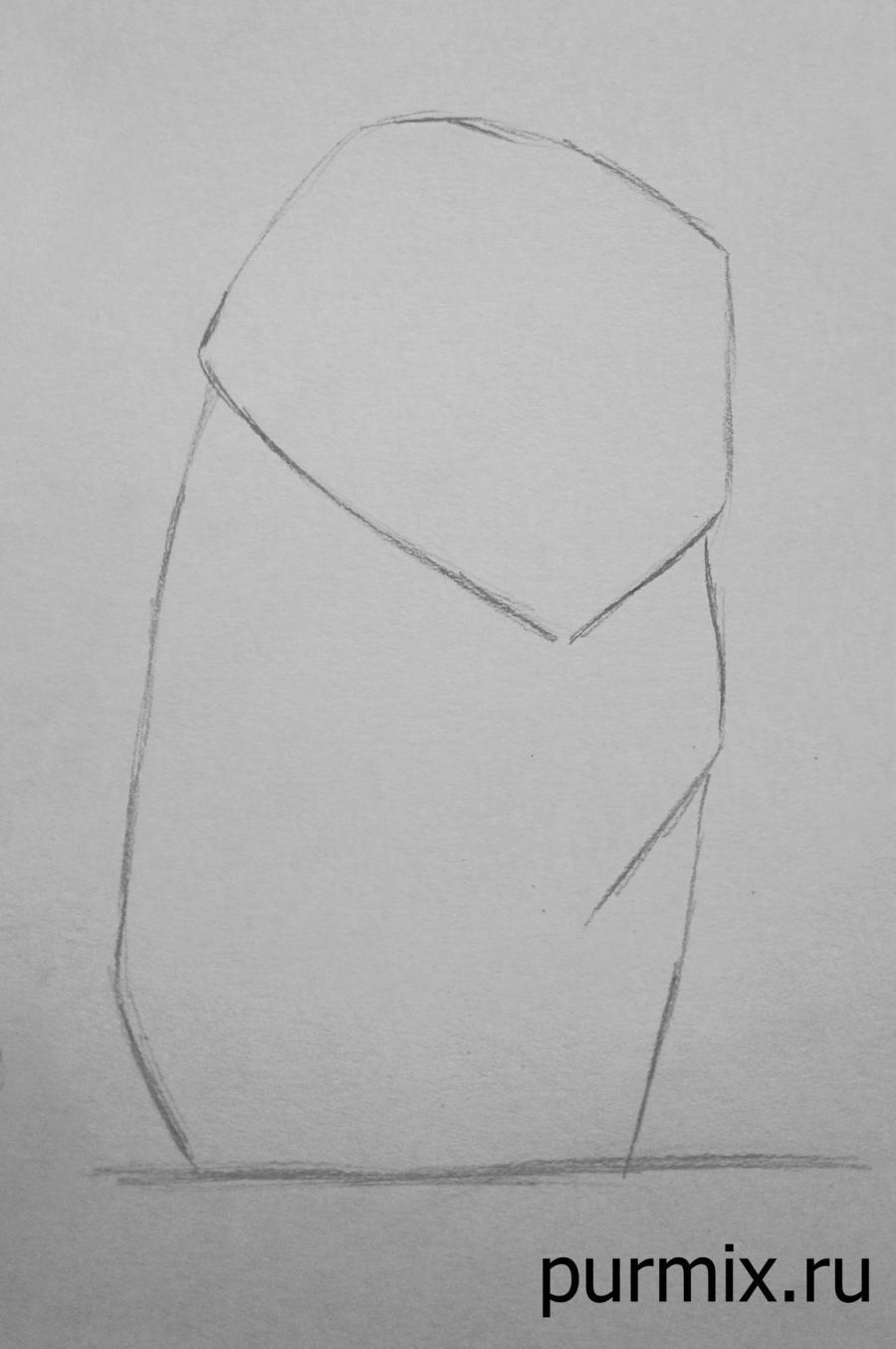 Как нарисовать пса Перси из Покахонтас простым карандашом