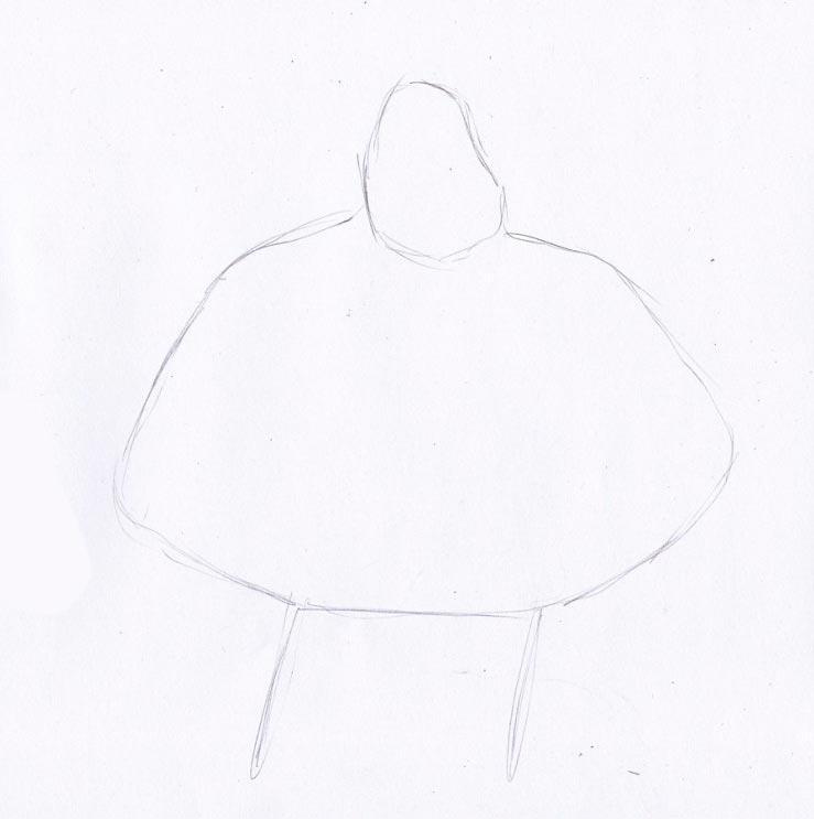 Учимся рисовать Ральфа - шаг 1