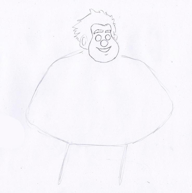 Учимся рисовать Ральфа - шаг 2