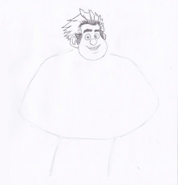 Учимся рисовать Ральфа - шаг 3