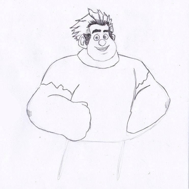 Учимся рисовать Ральфа - шаг 4