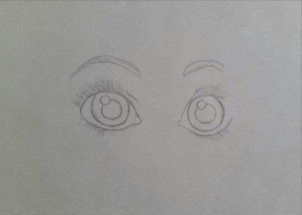 Рисуем Рапунцель карандашами - шаг 1