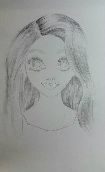 Рисуем Рапунцель карандашами - шаг 5