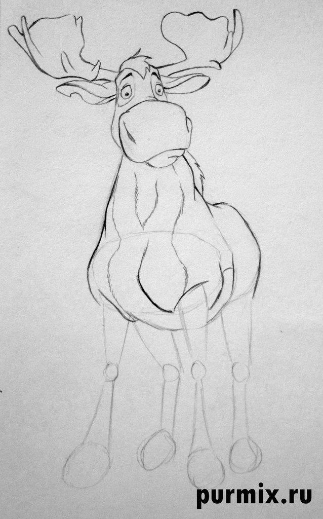 Как нарисовать Ратта из Братец медвежонок простым карандашом