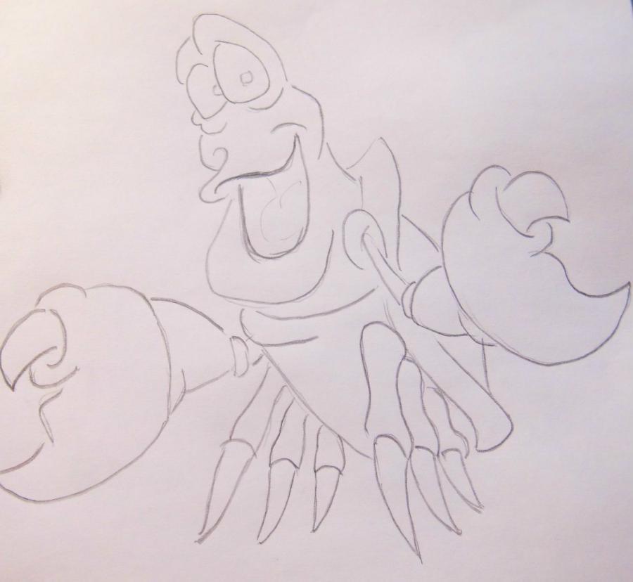Рисуем Себастьяна из Русалочки - шаг 3