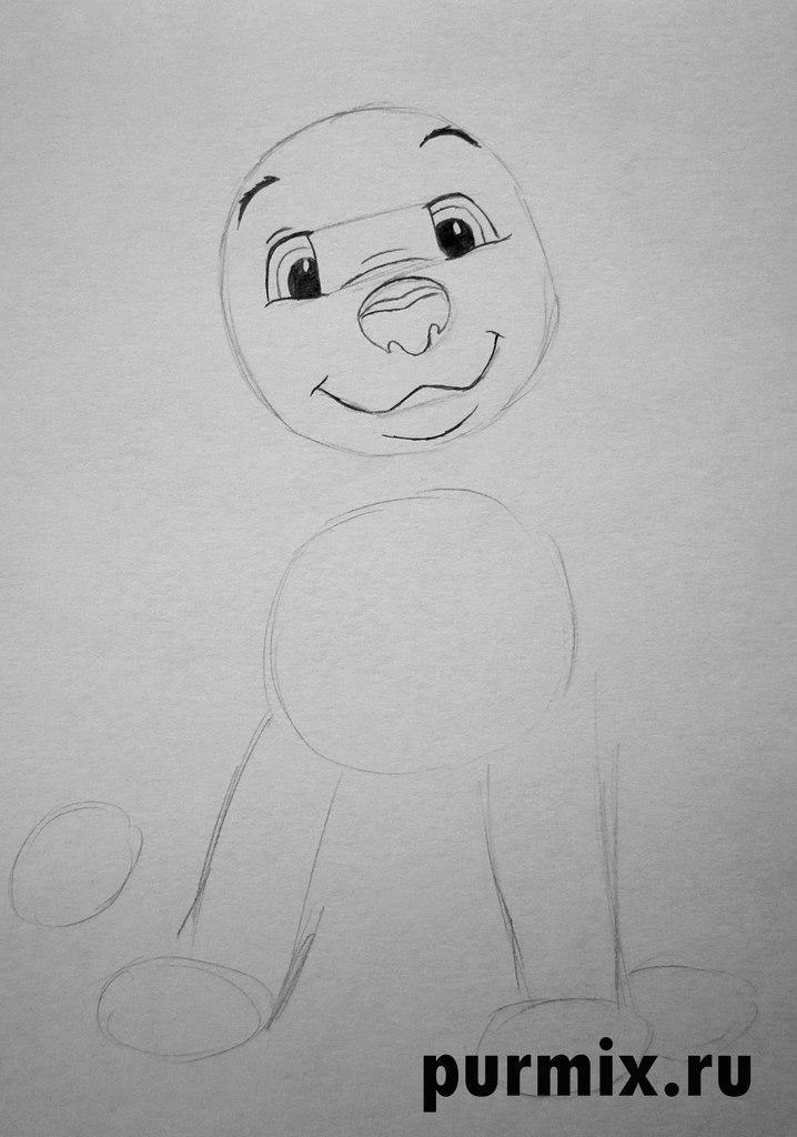 Рисуем щенка далматина из мультфильма 101 далматинец