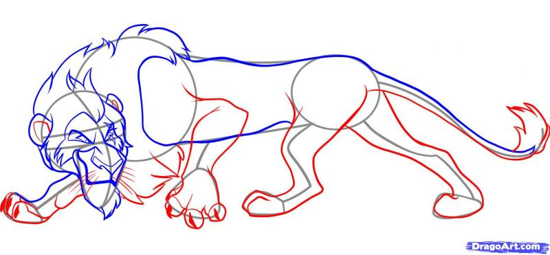 Рисуем Шрама из мультфильма Король лев - шаг 5