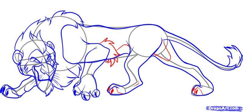 Рисуем Шрама из мультфильма Король лев - шаг 6