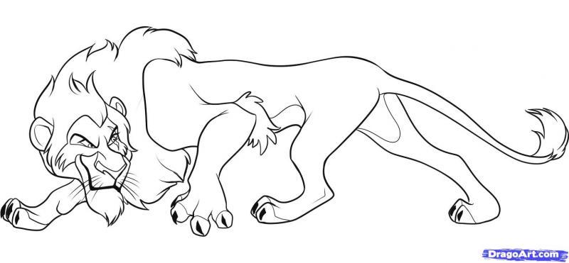 Рисуем Шрама из мультфильма Король лев - шаг 7