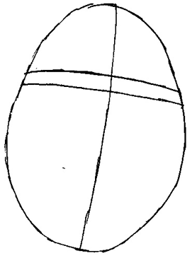 Рисуем Шрека - шаг 1