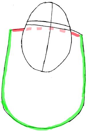 Рисуем Шрека - шаг 2