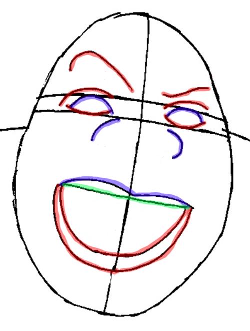 Рисуем Шрека - шаг 5