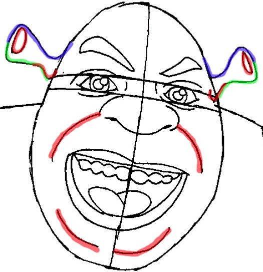 Рисуем Шрека - шаг 7