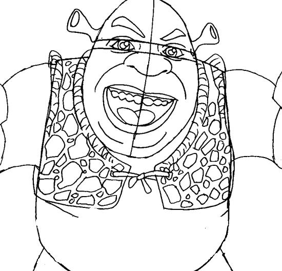 Рисуем Шрека - шаг 8