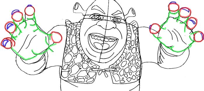 Рисуем Шрека - шаг 9