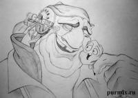 Сильвера и Морфа из Планета сокровищ карандашом