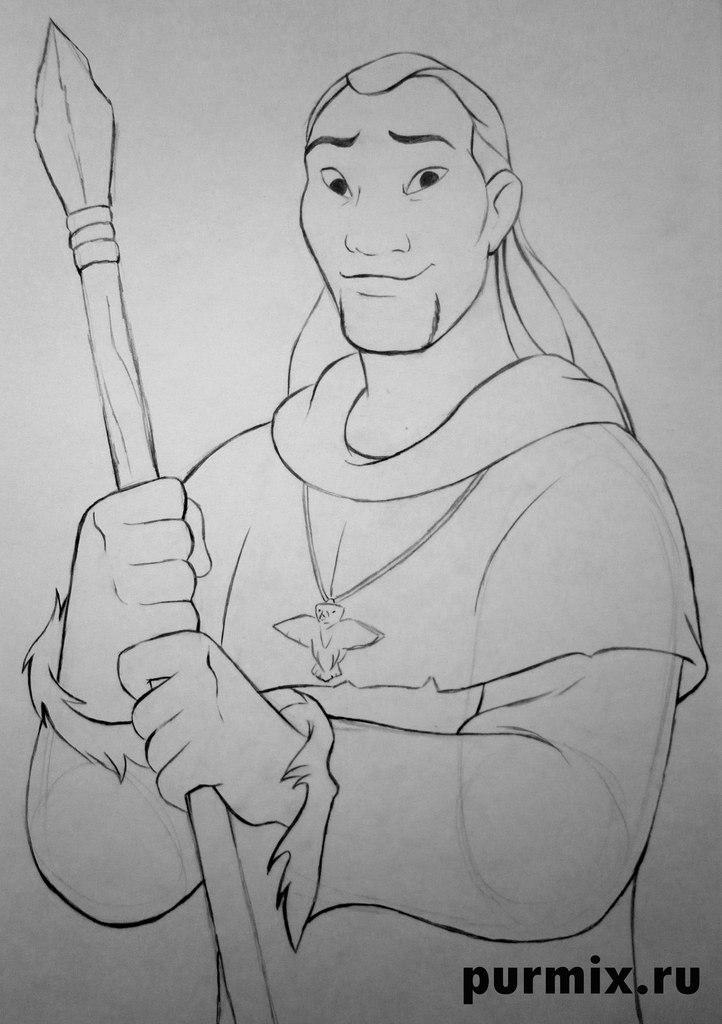 Рисуем Ситка из Братец медвежонок