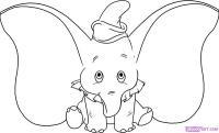 слоненка Дамбо карандашом