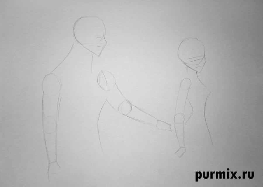 Как нарисовать спящую красавицу и принца карандашом поэтапно