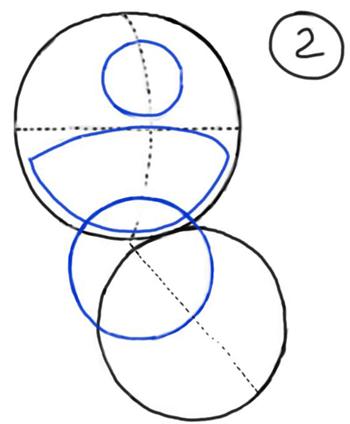 Рисуем Стича злого - шаг 1