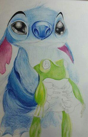 Рисуем Стича цветными карандашами - шаг 21