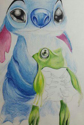 Рисуем Стича цветными карандашами - шаг 22