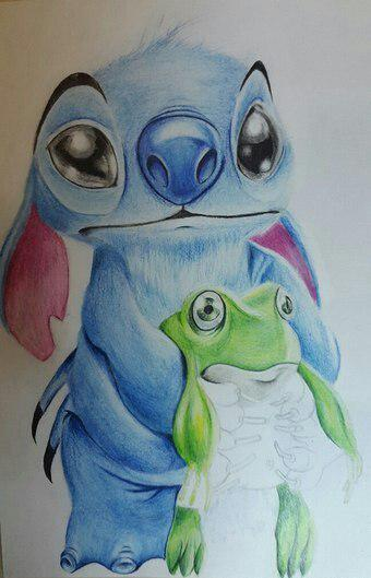 Рисуем Стича цветными карандашами - шаг 23