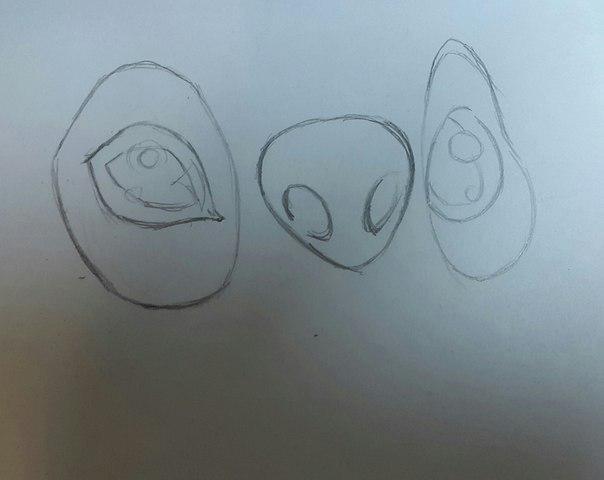 Рисуем Стича цветными карандашами - шаг 3