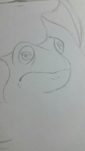 Рисуем Стича цветными карандашами - шаг 6