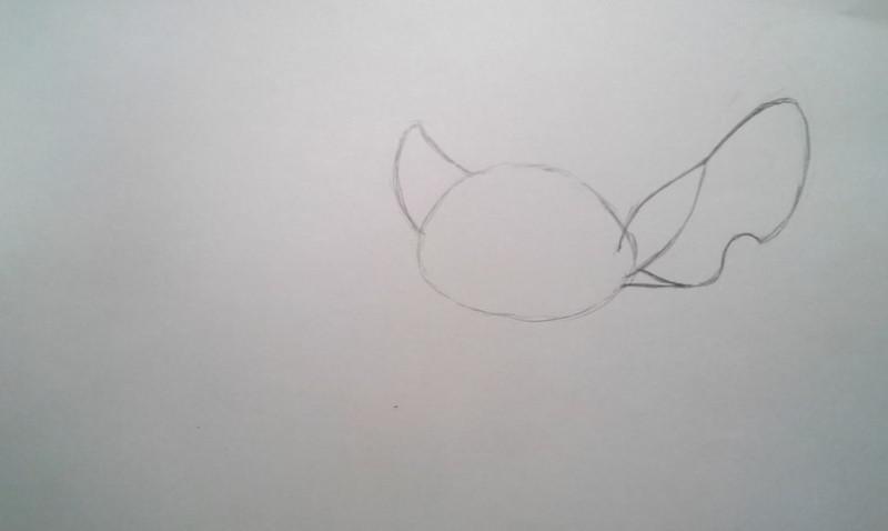 Рисуем Стича - шаг 2