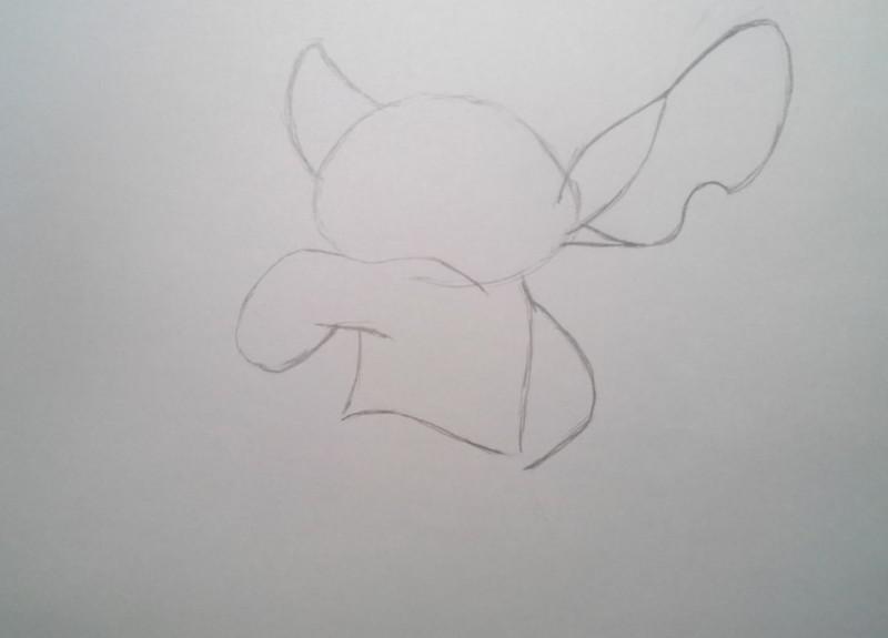 Рисуем Стича - шаг 3