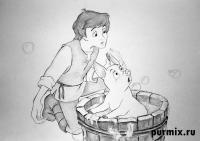 Фото Тарена и Хен Вен из мультфильма Черный котел