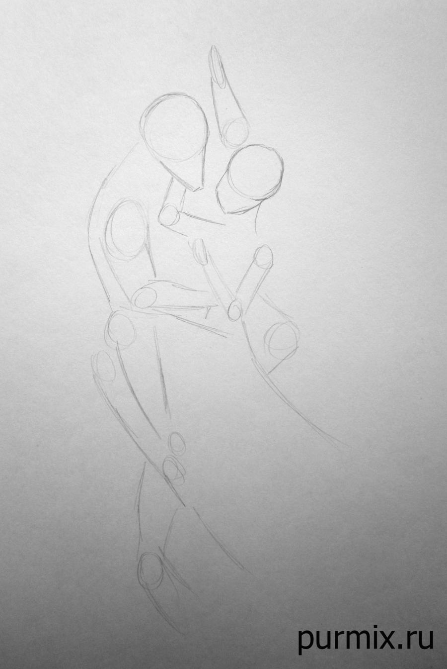 Рисуем Тарзана и Джейн простым