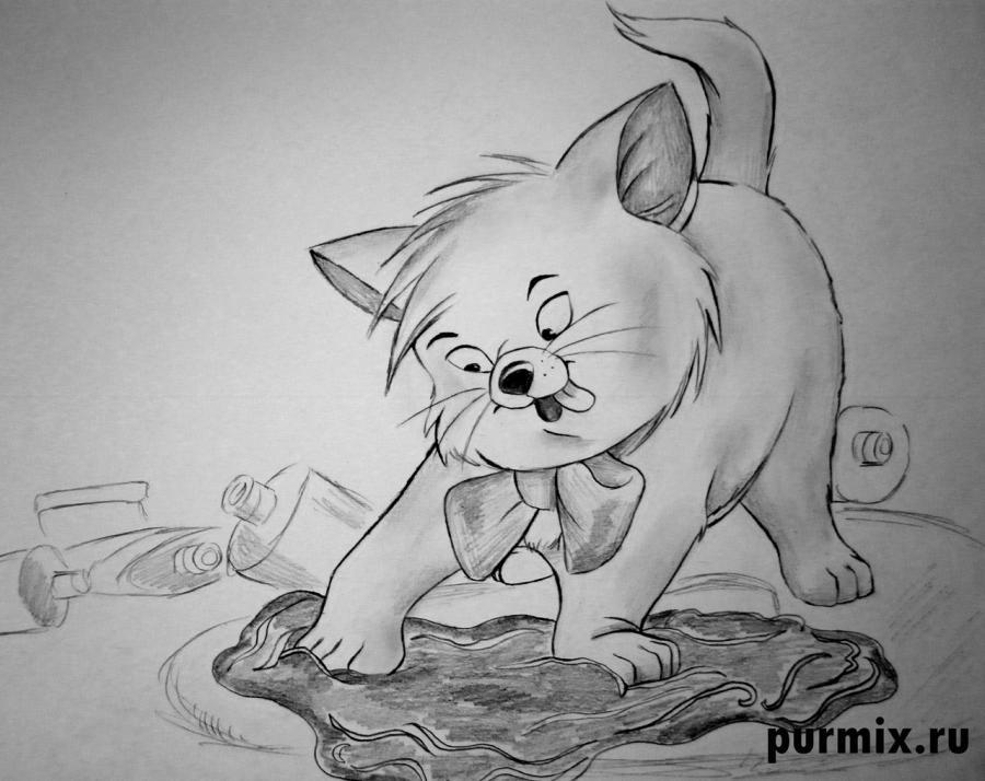 Рисуем Тулуза из Коты Аристократы простым