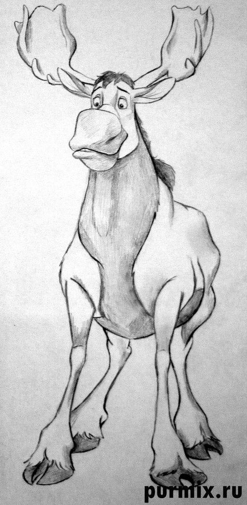Рисуем Тьюка из Братец медвежонок простым