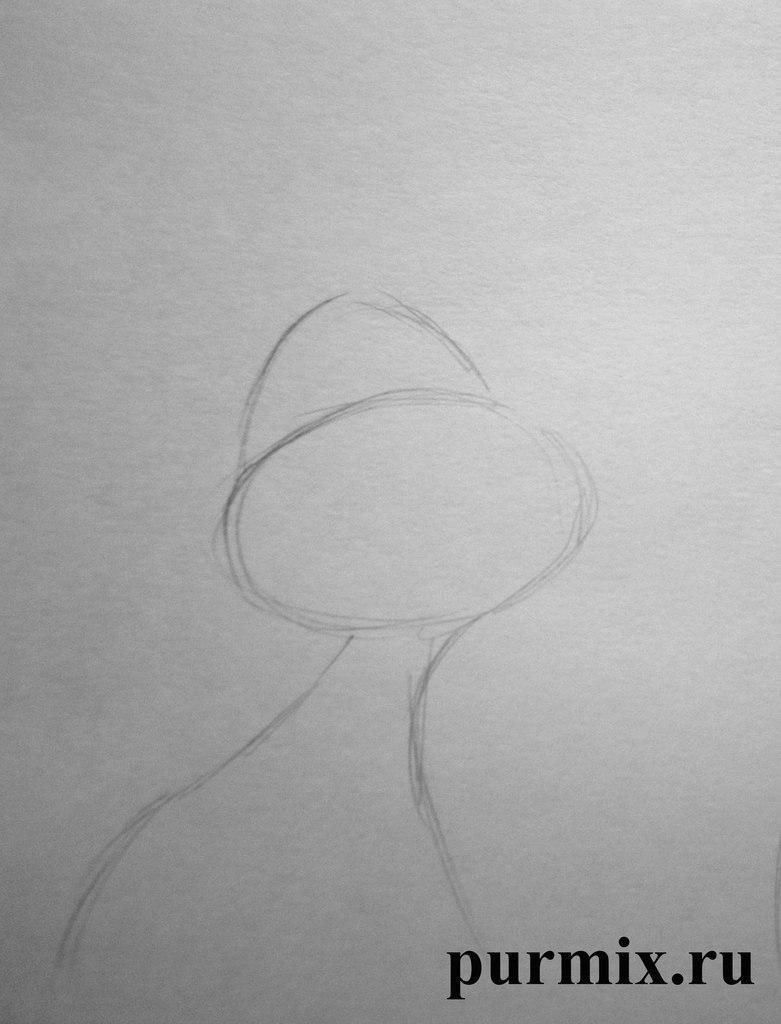 Рисуем Жака из Золушки простым