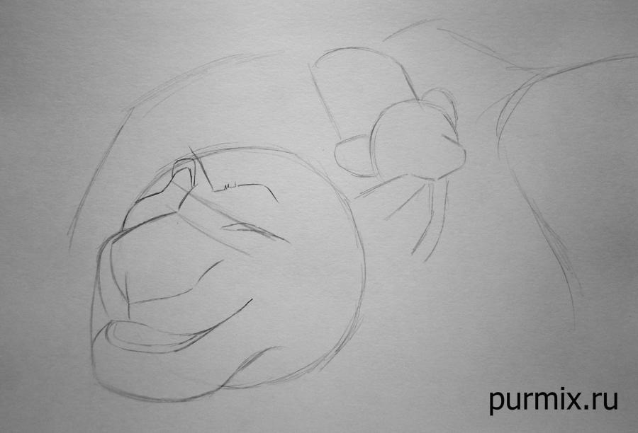 Как научиться рисовать Муфасу и Симбу из Король лев