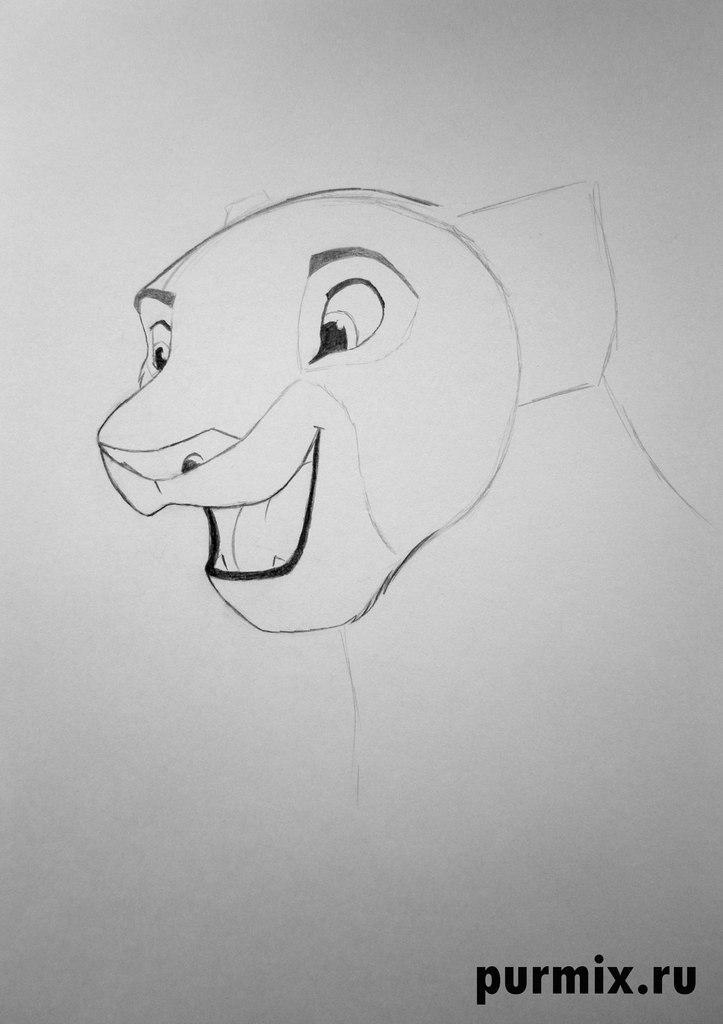 Как рисовать Налу из Король лев 2 - шаг 3