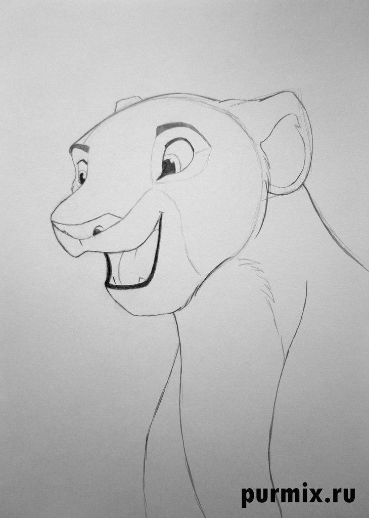 Как рисовать Налу из Король лев 2 - шаг 4