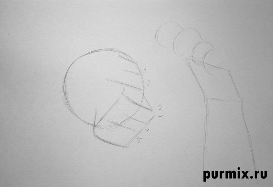 Как рисовать Шрама с мишкой - шаг 1