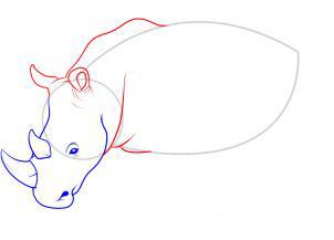Рисуем носорога - шаг 8