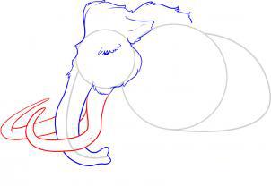 Рисуем мамонта карандашами - фото 4