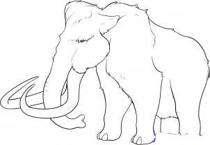 Как рисовать мамонтов поэтапно