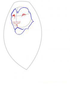 Рисуем льва - шаг 2