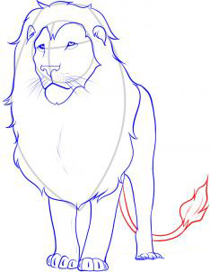 Рисуем льва - шаг 6