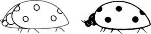 Легко и просто рисуем божью коровку ребенку - шаг 2