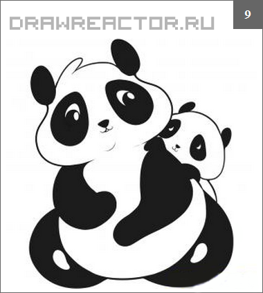 Как нарисовать панду карандашом