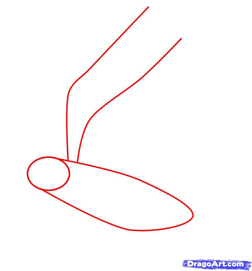 Рисуем ворону - шаг 1