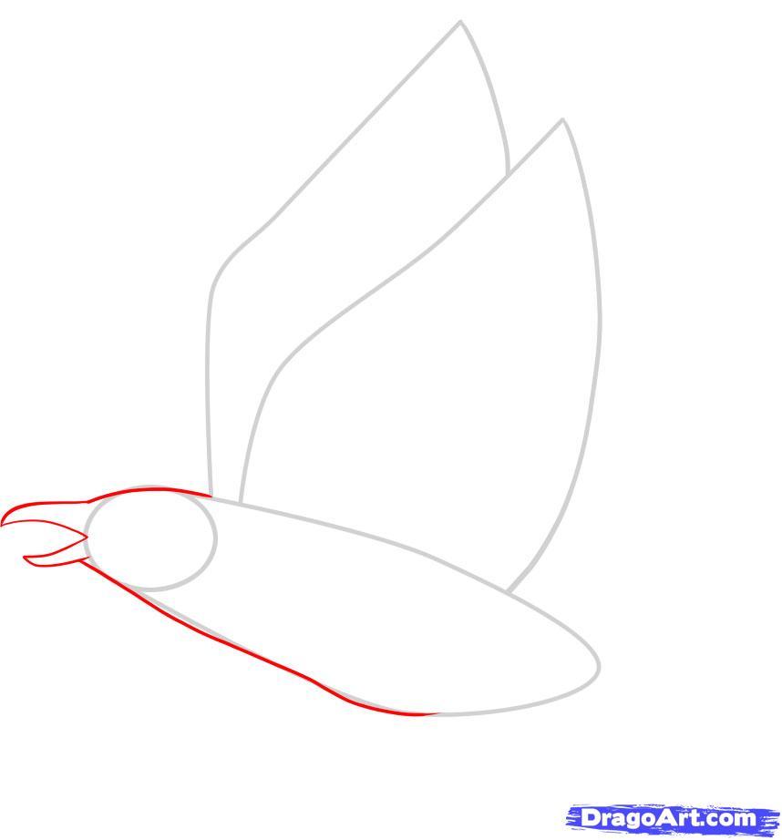 Рисуем ворону - шаг 3